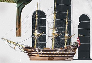 Kirkeskibet som hænger i Buerup kirke